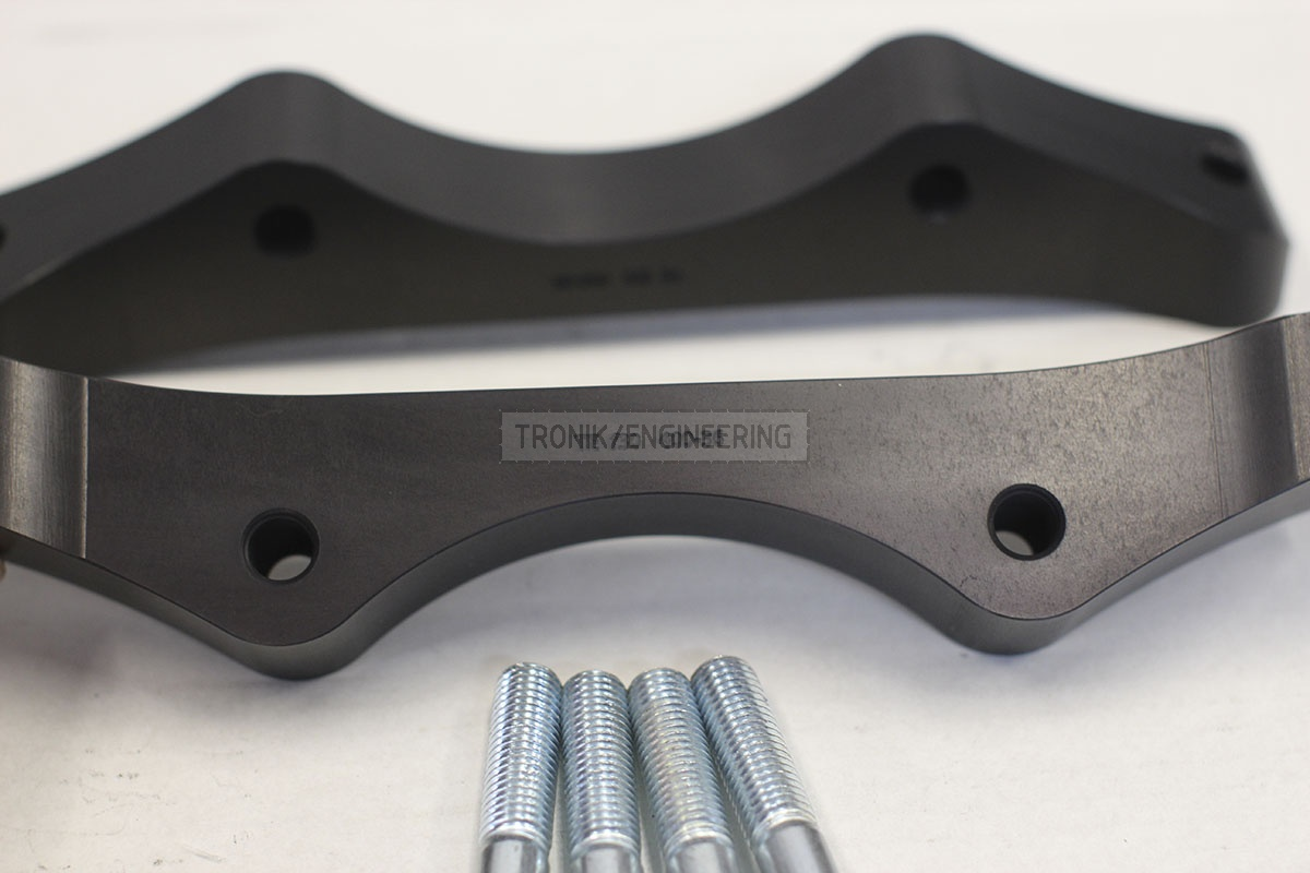 BMW F30 adapters by Tronik to install 400-36 rotor from M5 F10. pic 7