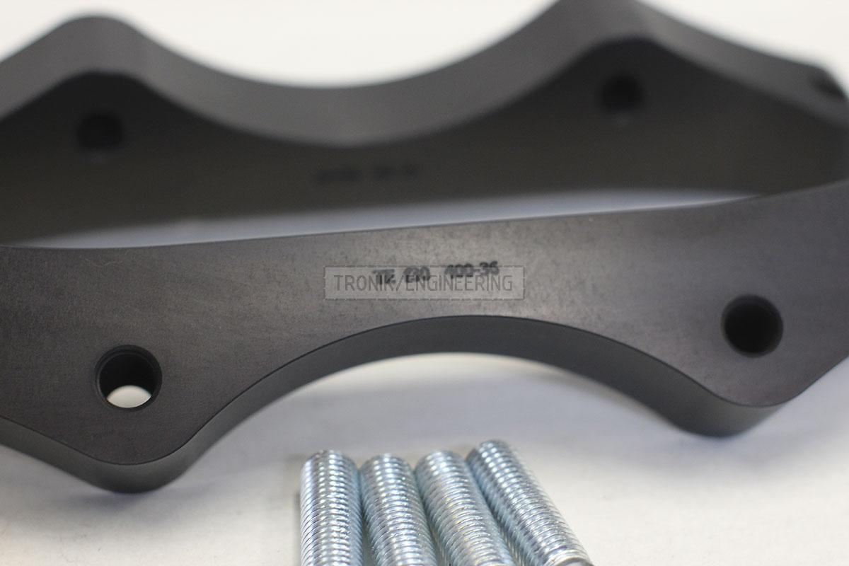 BMW F30 adapters by Tronik to install 400-36 rotor from M5 F10. pic 5