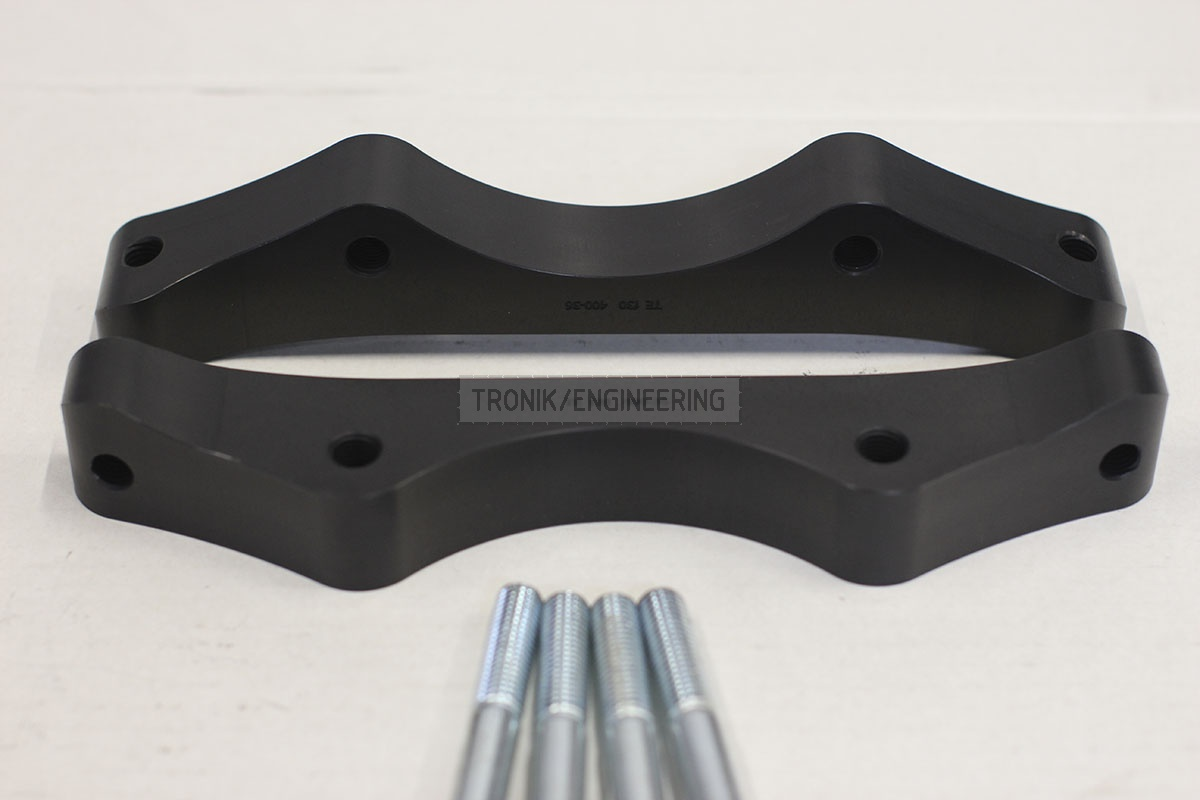 BMW F30 adapters by Tronik to install 400-36 rotor from M5 F10. pic 4