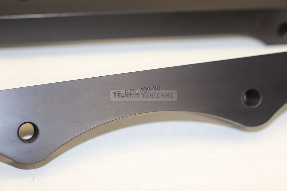 BMW F25/F26 adapters by Tronik to install 400-36 rotor from M5 F10. pic 1
