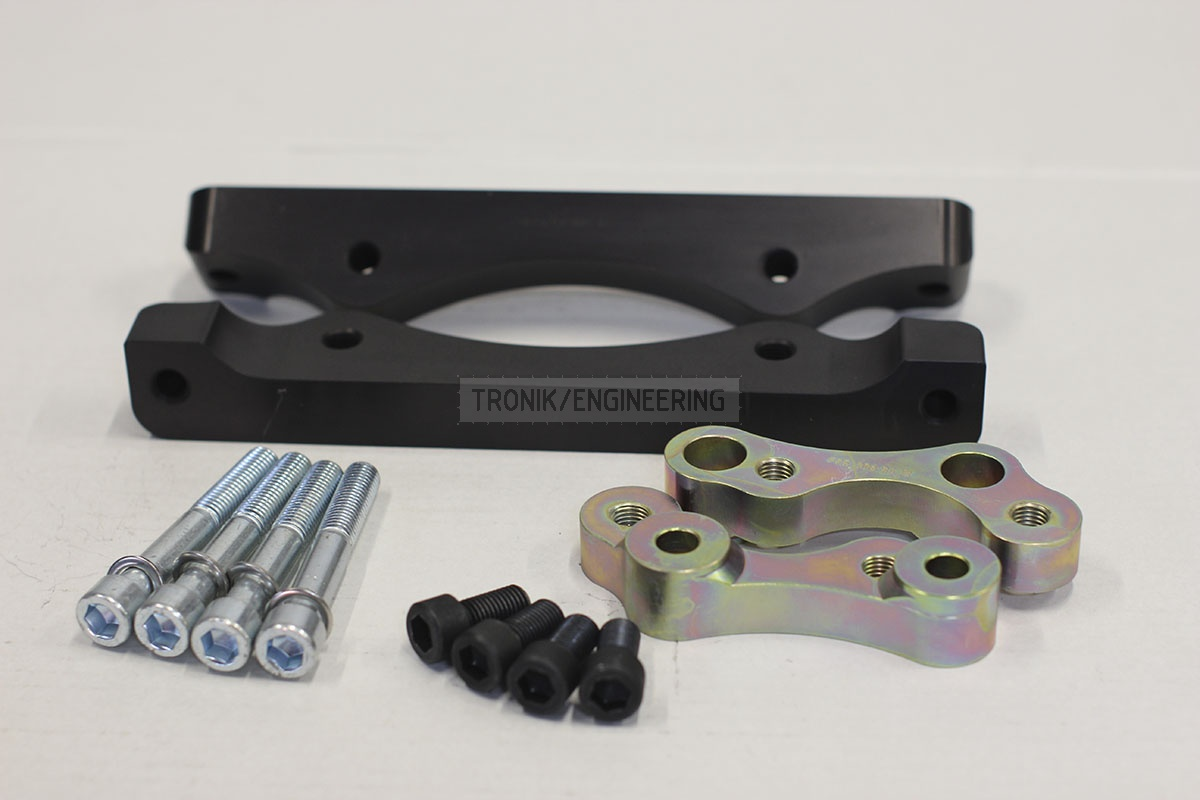 BMW F25/F26 adapters by Tronik to install M5 F10 brakes. pic 1