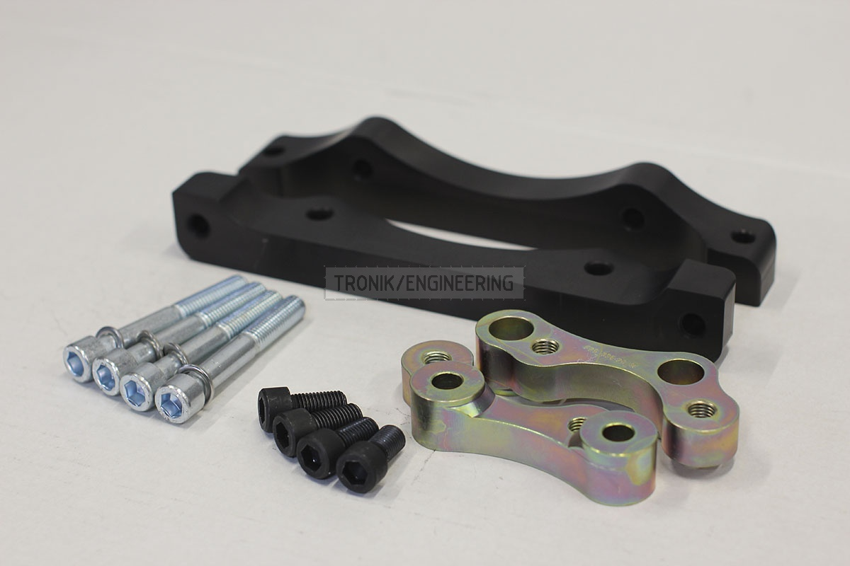 BMW F25/F26 adapters by Tronik to install M5 F10 brakes. pic 8