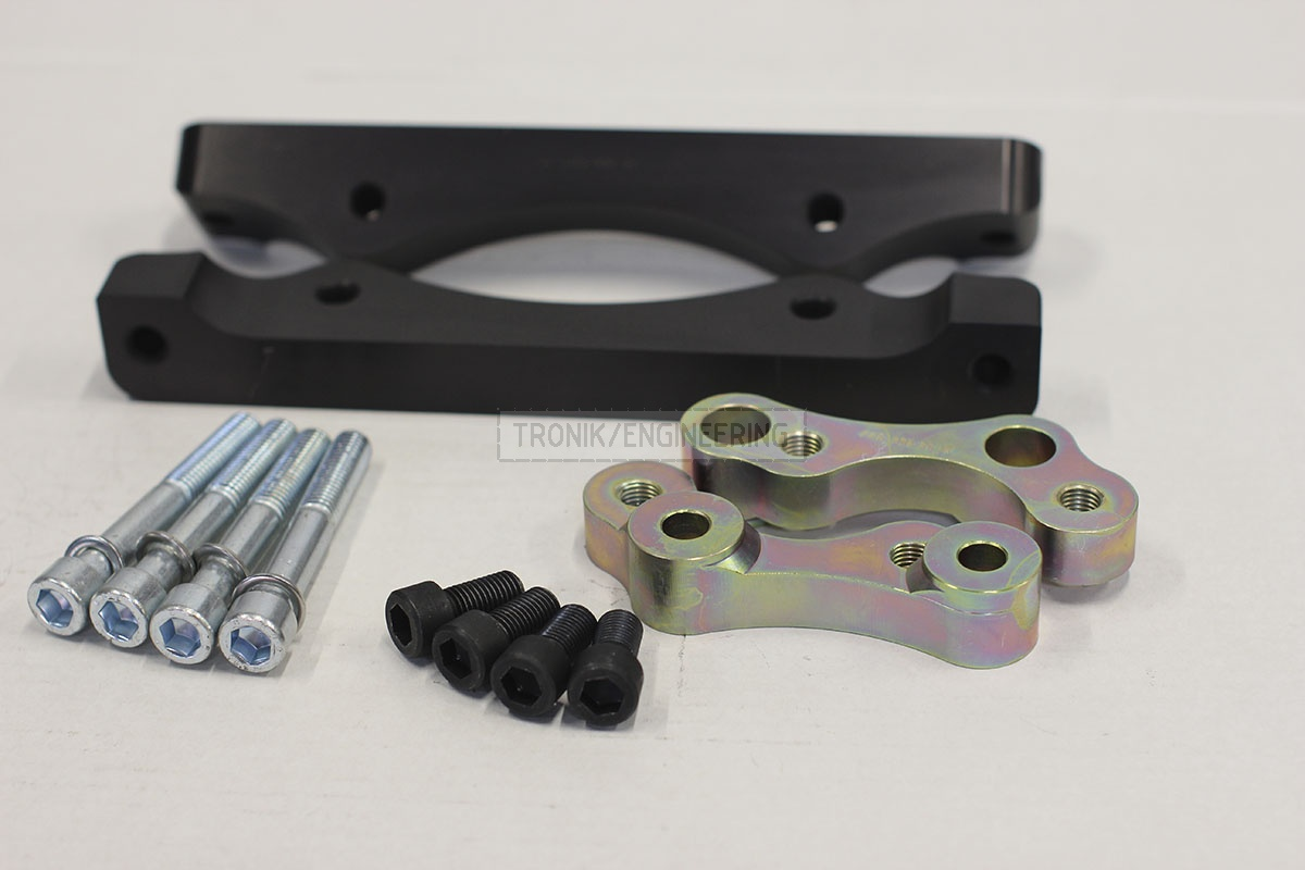 BMW F25/F26 adapters by Tronik to install M5 F10 brakes. pic 3