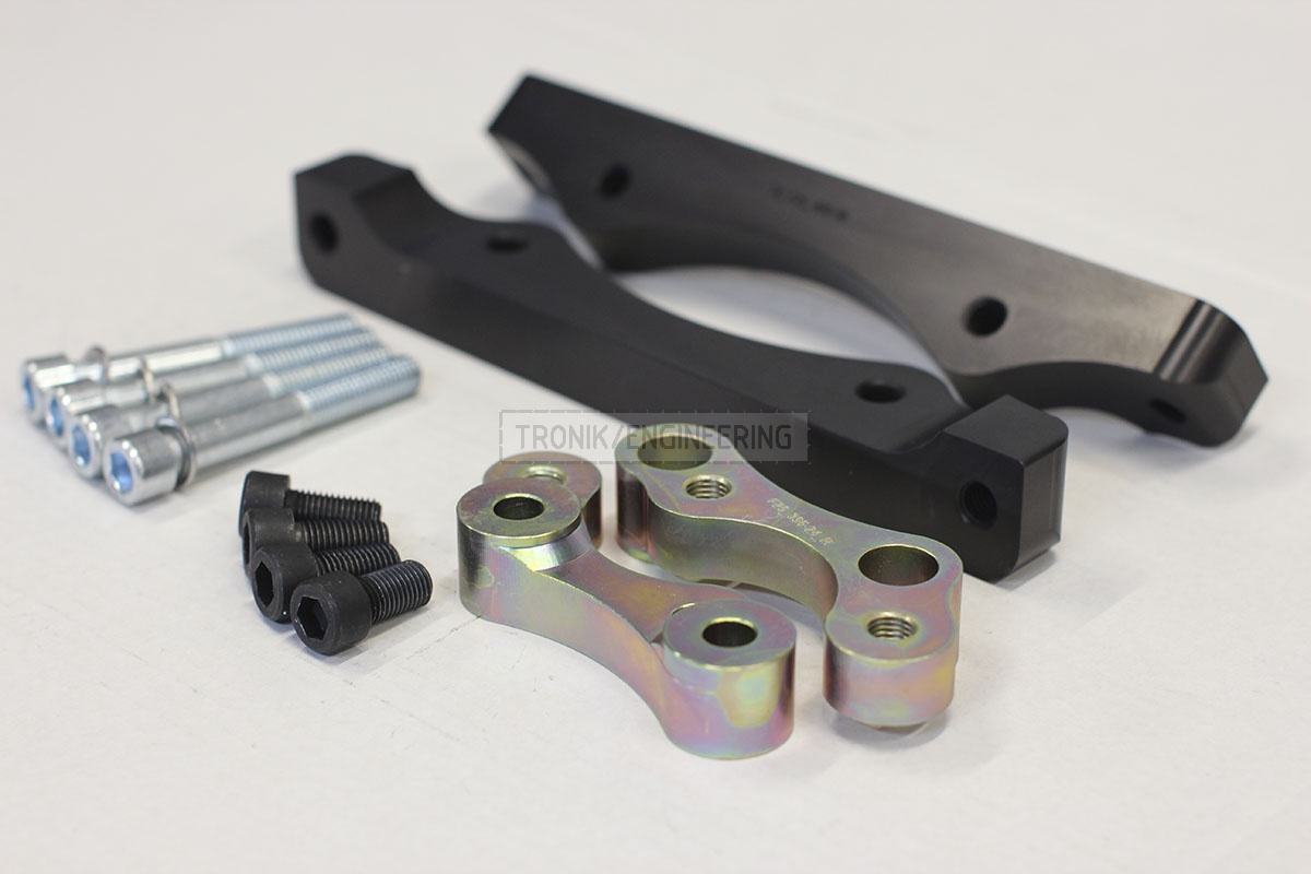 BMW F25/F26 adapters by Tronik to install M5 F10 brakes. pic 4