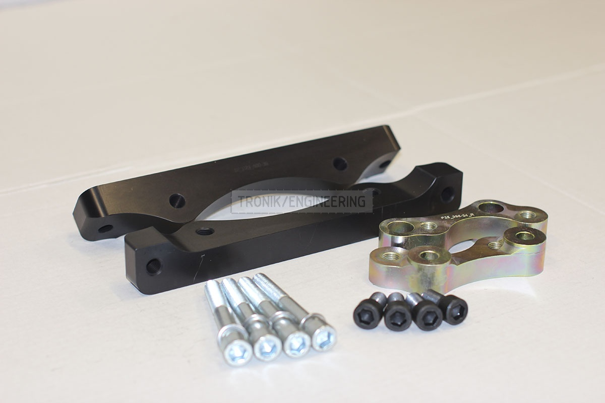 BMW F25/F26 adapters by Tronik to install M5 F10 brakes. pic 5