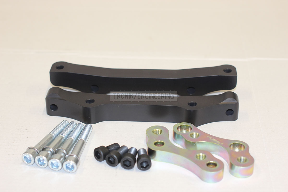 BMW F10 adapters by Tronik to install M5 F10 brakes. pic 3