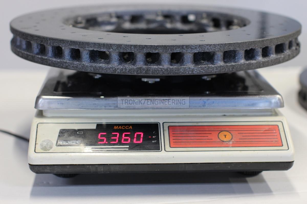 weight of back brake disc 360-32 5,3kg
