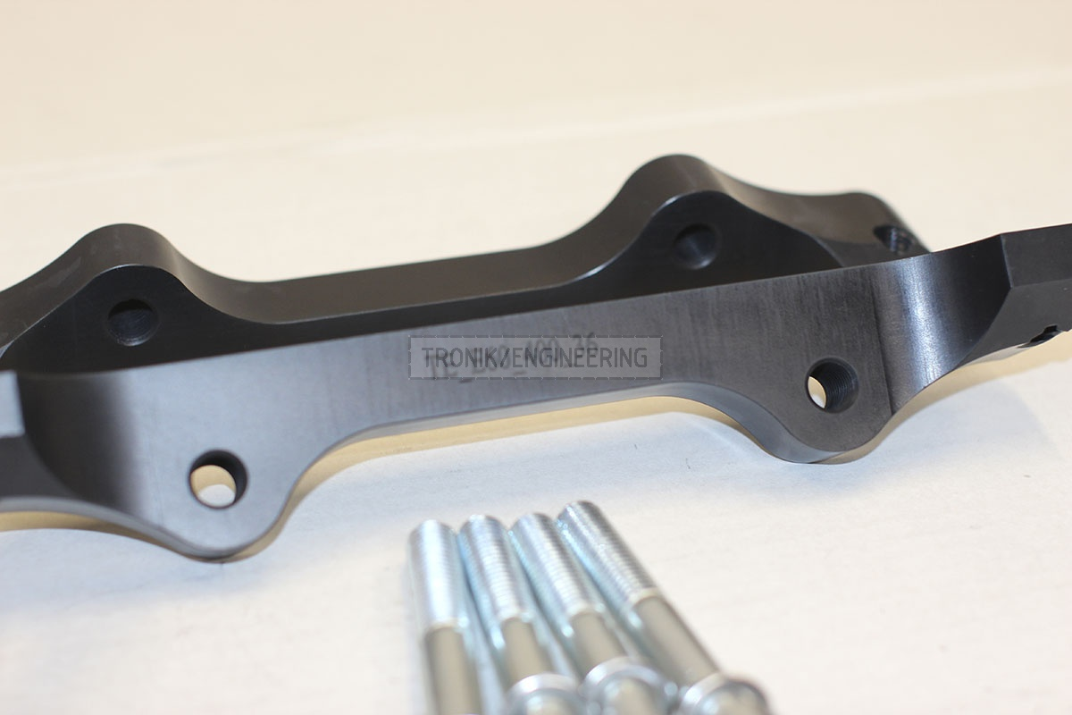 BMW E60 adapters by Tronik to install 400-36 rotor from M5 F10. pic 5