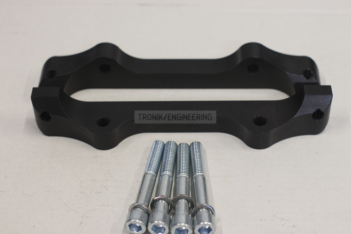 BMW E60 adapters by Tronik to install 400-36 rotor from M5 F10. pic 6