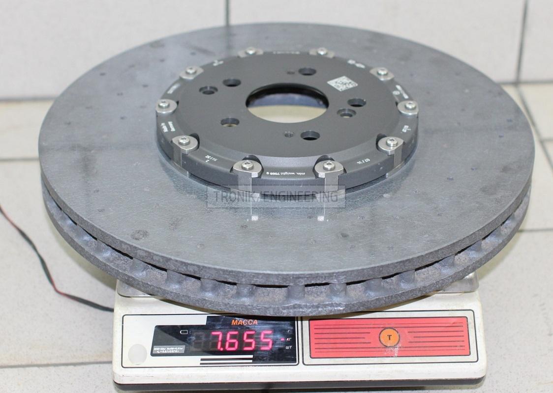 brake rotor MB E212 AMG 402 mm diameter, 39mm & 7,65kg.