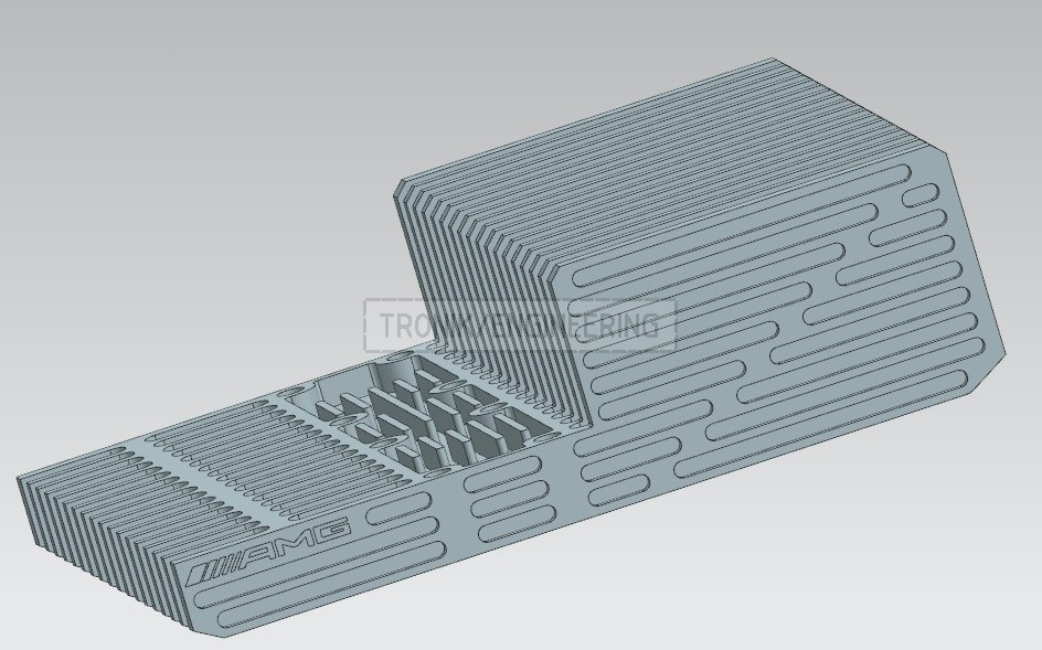 designed reducer lid & cooling radiator for Mercedes Benz W124 E60 AMG pic2