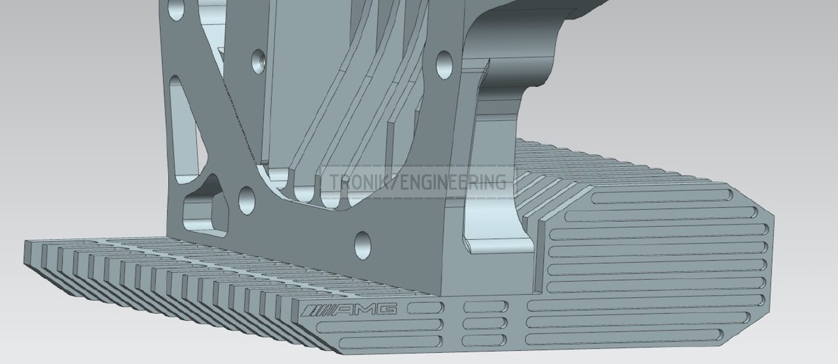 designed reducer lid & cooling radiator for Mercedes Benz W124 E60 AMG pic3
