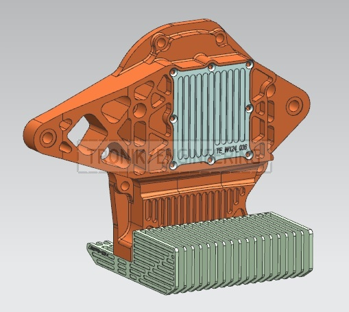 designed reducer lid & cooling radiator for Mercedes Benz W124 E60 AMG pic5