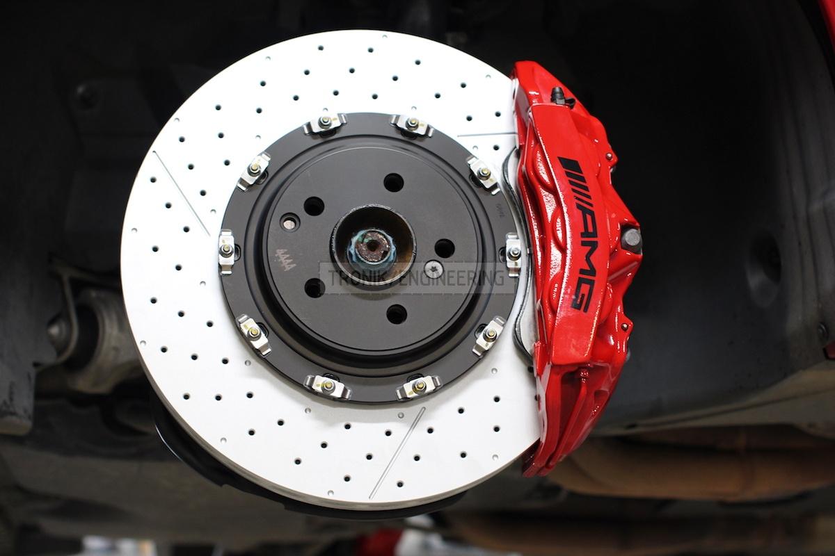 front axle brake system brembo brake rotor 390-36 pic2