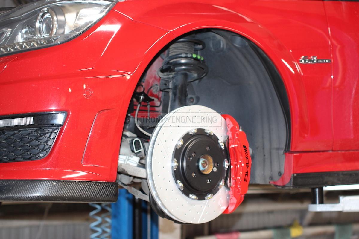 front axle brake system brembo brake rotor 390-36 pic3