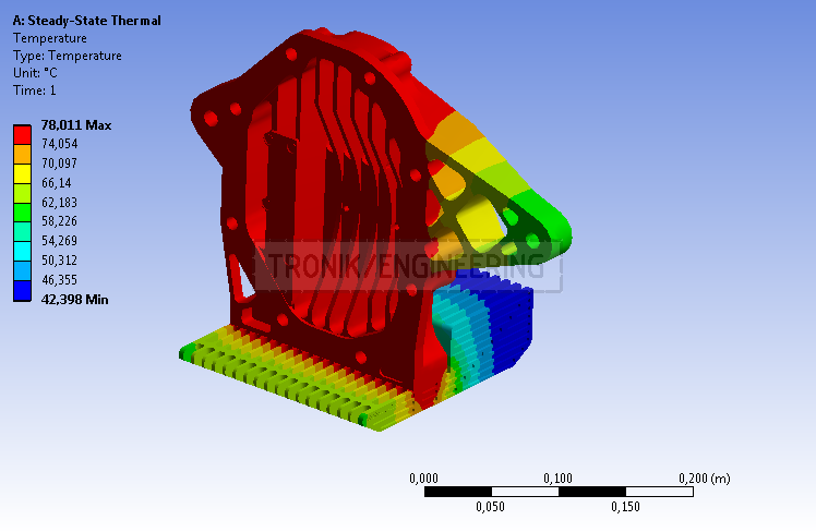 heat balance of reducer lid & cooling radiator surface for Mercedes Benz W124 E60 AMG pic2