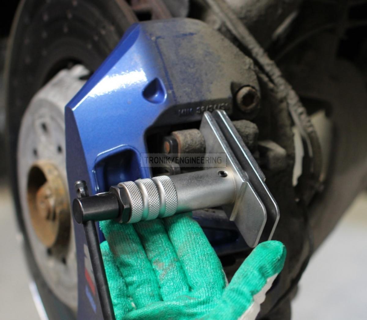 mounting brake pads brake rotor step wide