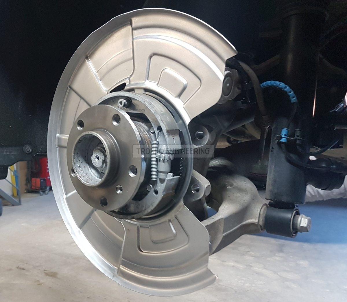 parking brake mechanism assembled