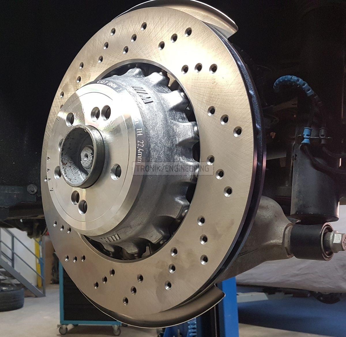 rear brake rotor BMW 385-24
