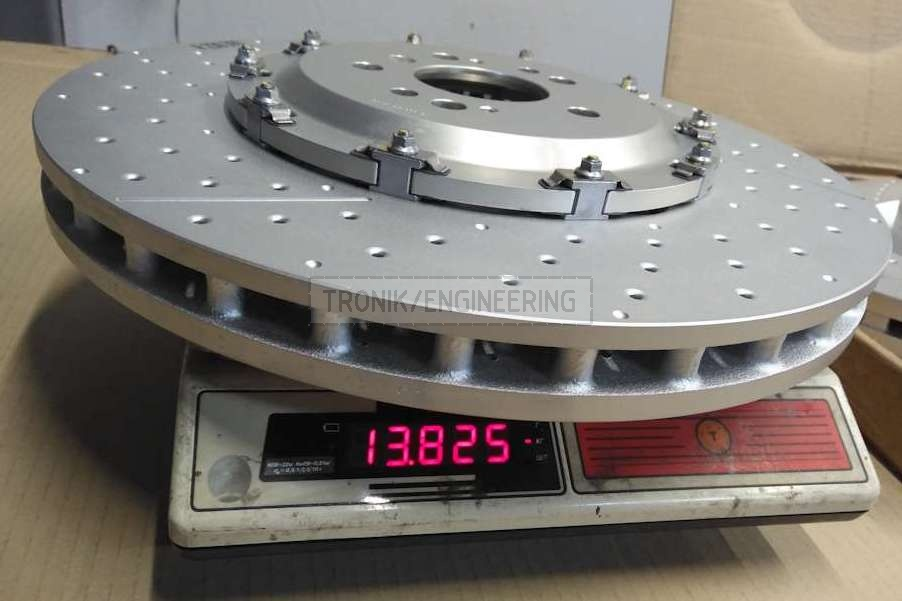 390-36 brake rotor weight is 13,8 kg