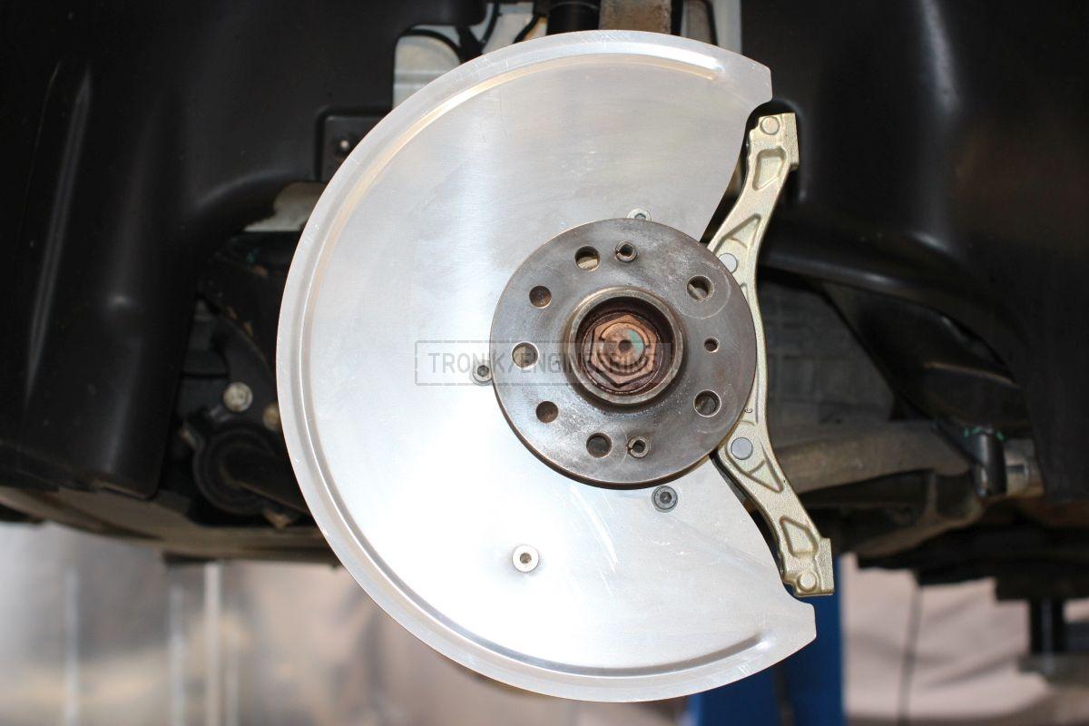 brake dust shield & caliper adapter