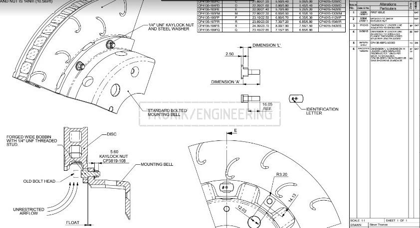 brake rotor AP Racing 380-34 & hat