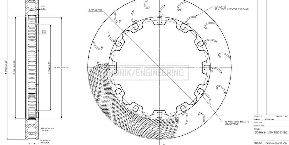 brake rotor AP Racing 380-34