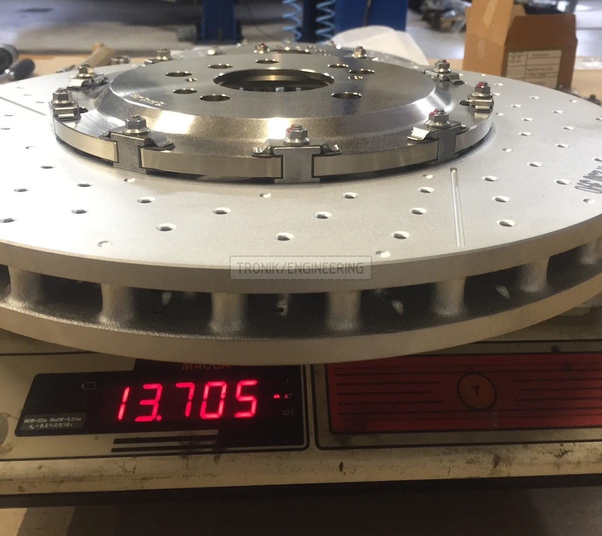 brake rotor weigh in