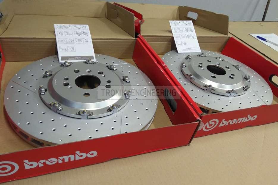 front brake rotors set Brembo 390-36