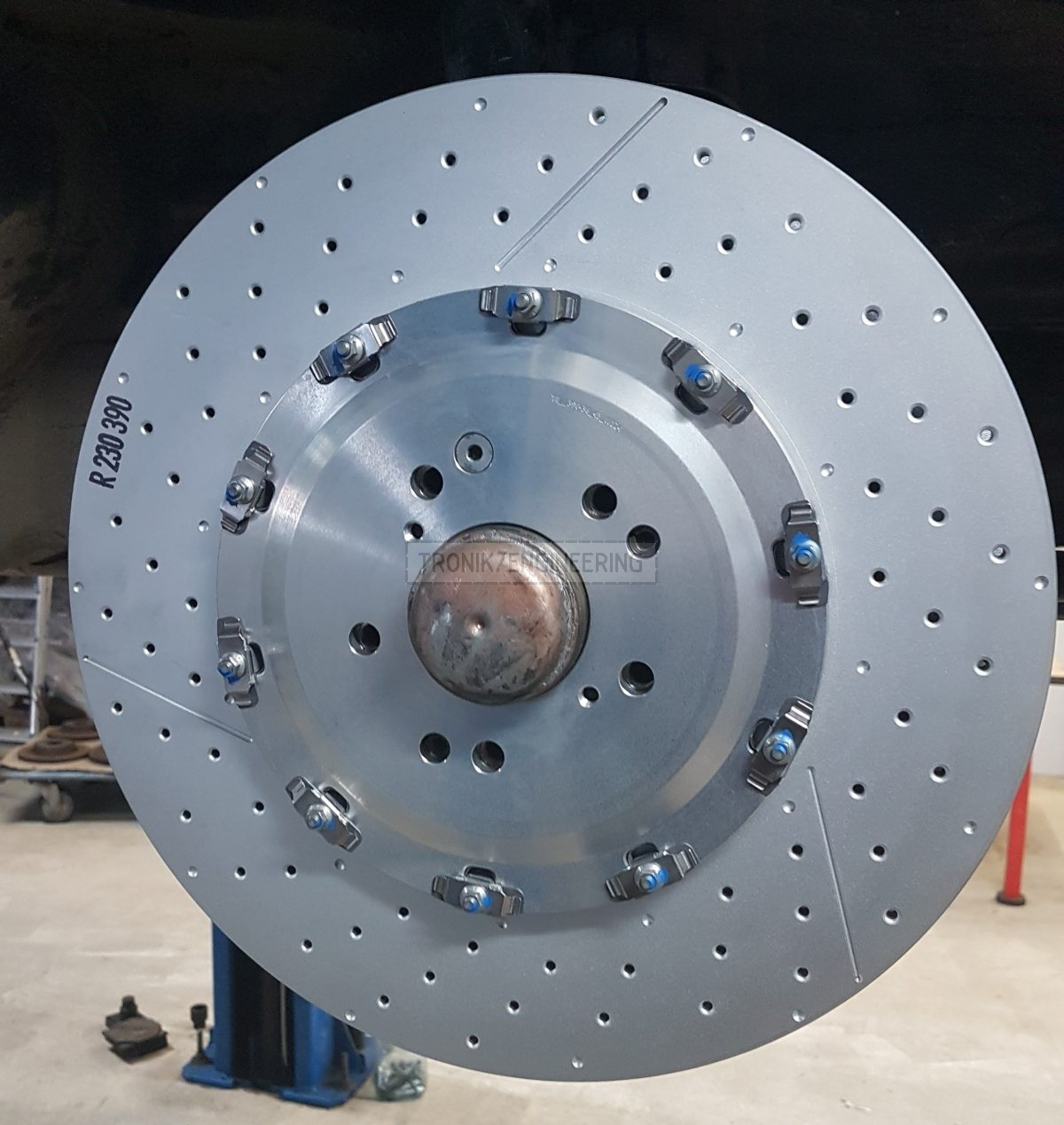 installed brake rotor