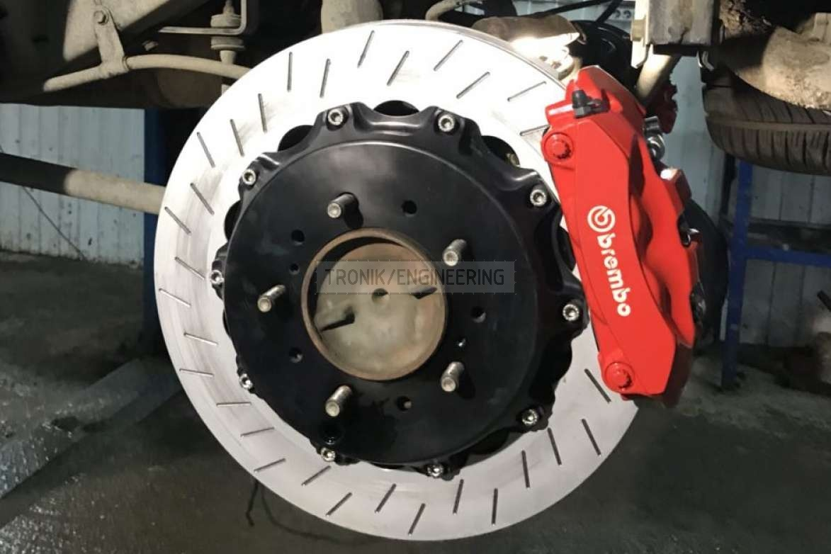 rear axle brake system & Brembo 4 pot caliper & rotor 402-30 pic2
