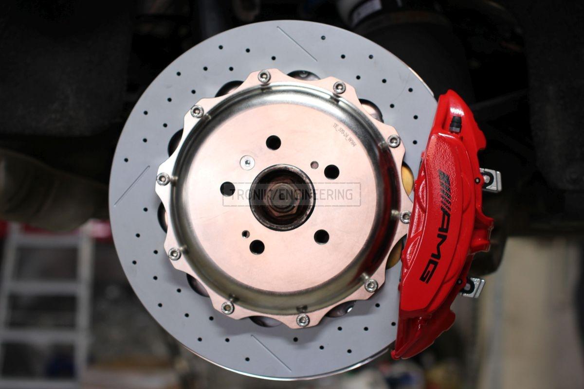 rear brake rotor&caliper installed into W164 pic2