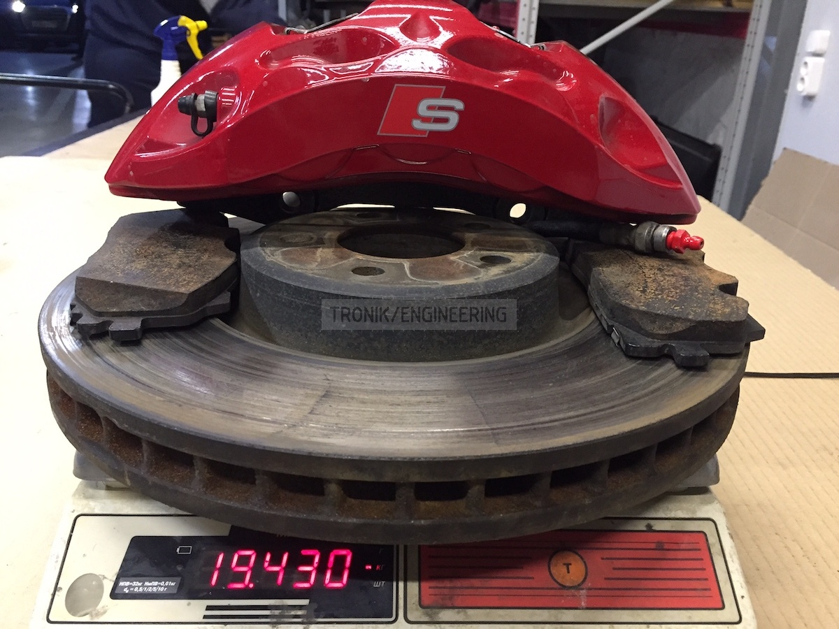 standard brake system weight 19430g