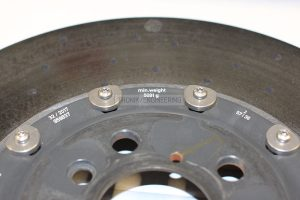 Minimal weight of right rear rotor is 5 091g