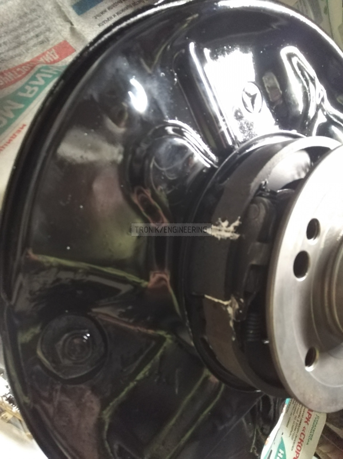 painted rear brake rotor dust shield pic3