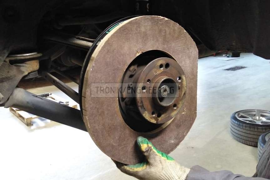 chipboard spacer molding brake rotor dust shield