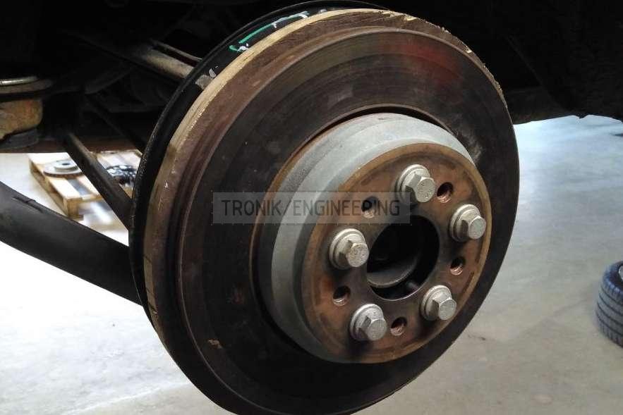 molding brake rotor dust shield