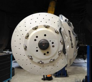 front axle brake system 6 pot caliper brake rotor 390-36 pic 1