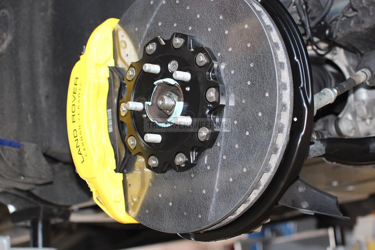 front axle 6 pot caliper & brake rotor410-36 pic 2