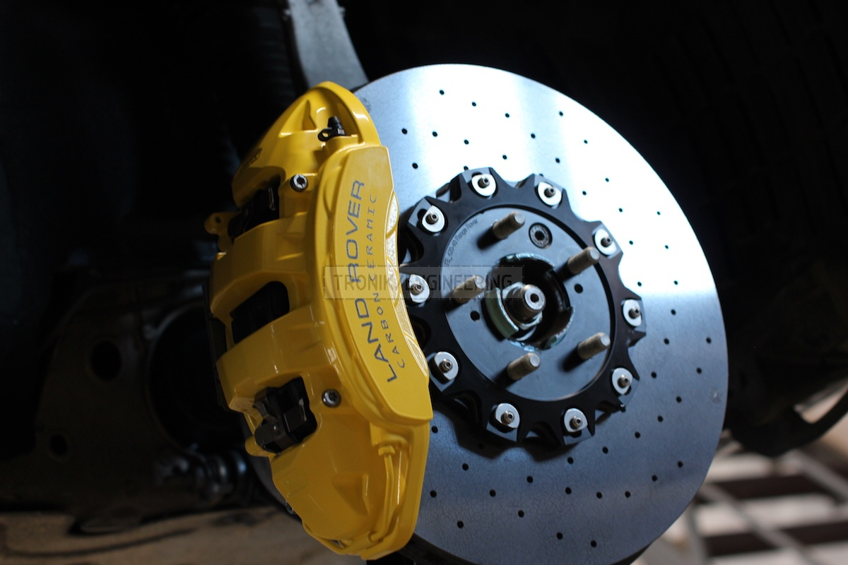 front axle 6 pot caliper & brake rotor410-36 pic 4