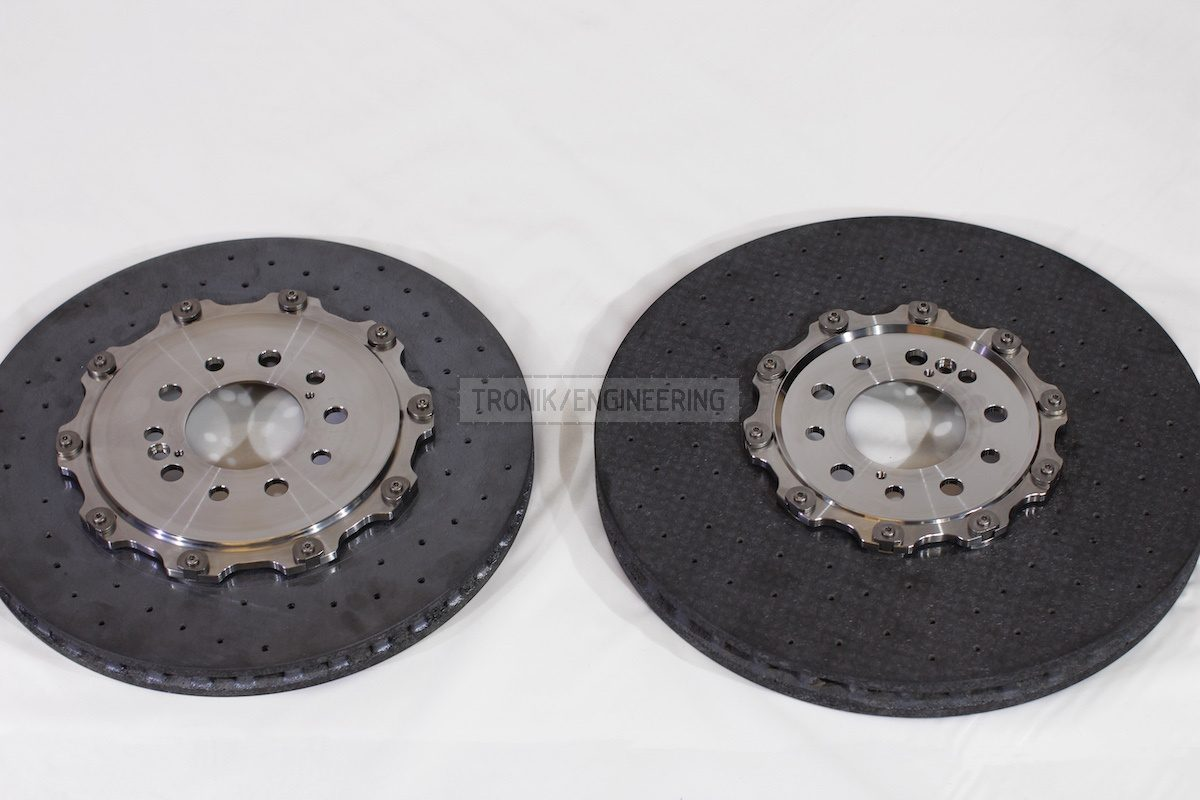 front & rear carbon ceramic brake rotors pic 1