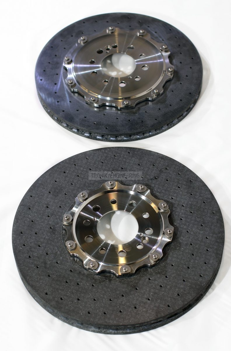 front & rear carbon ceramic brake rotors pic 2