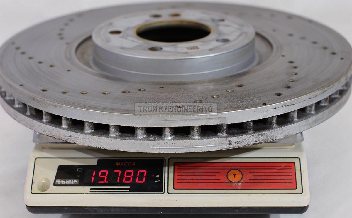 original W463.276 front brake rotor 19780 gr