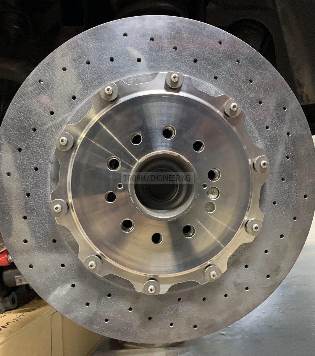 rear carbon ceramic brake rotor pic 1