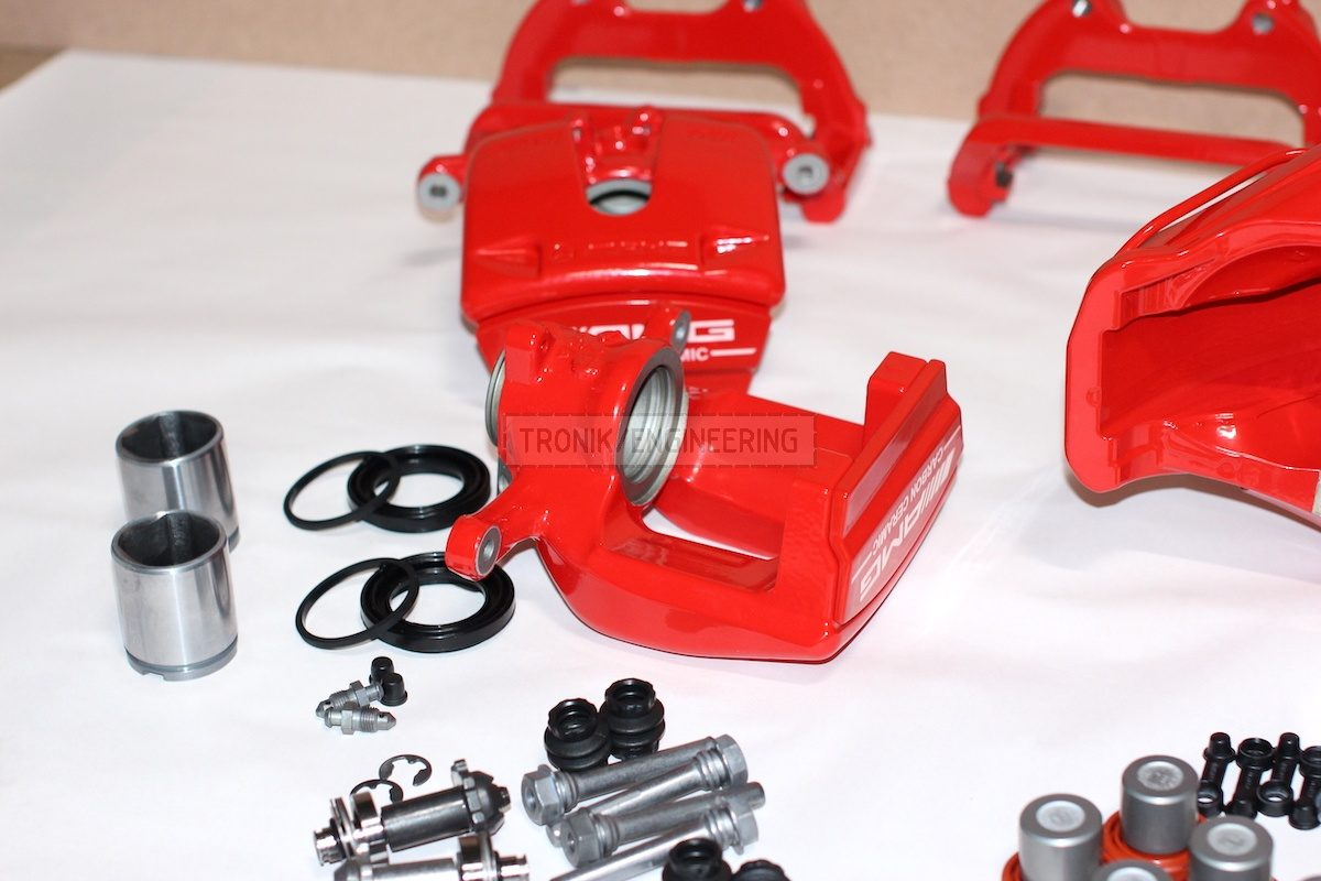 rear single pot caliper AMG w floating clamp