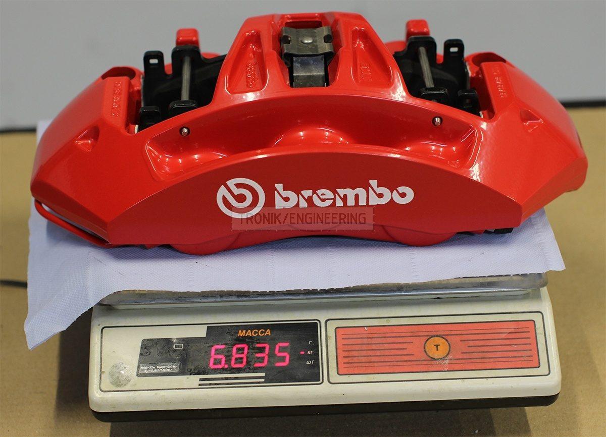 front 6 pot Brembo caliper