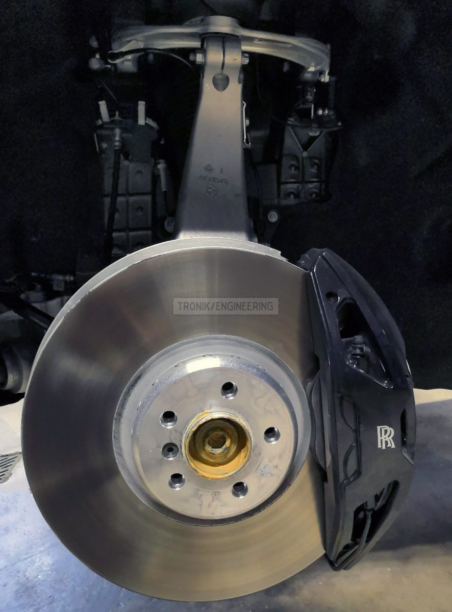 original front axle brake system