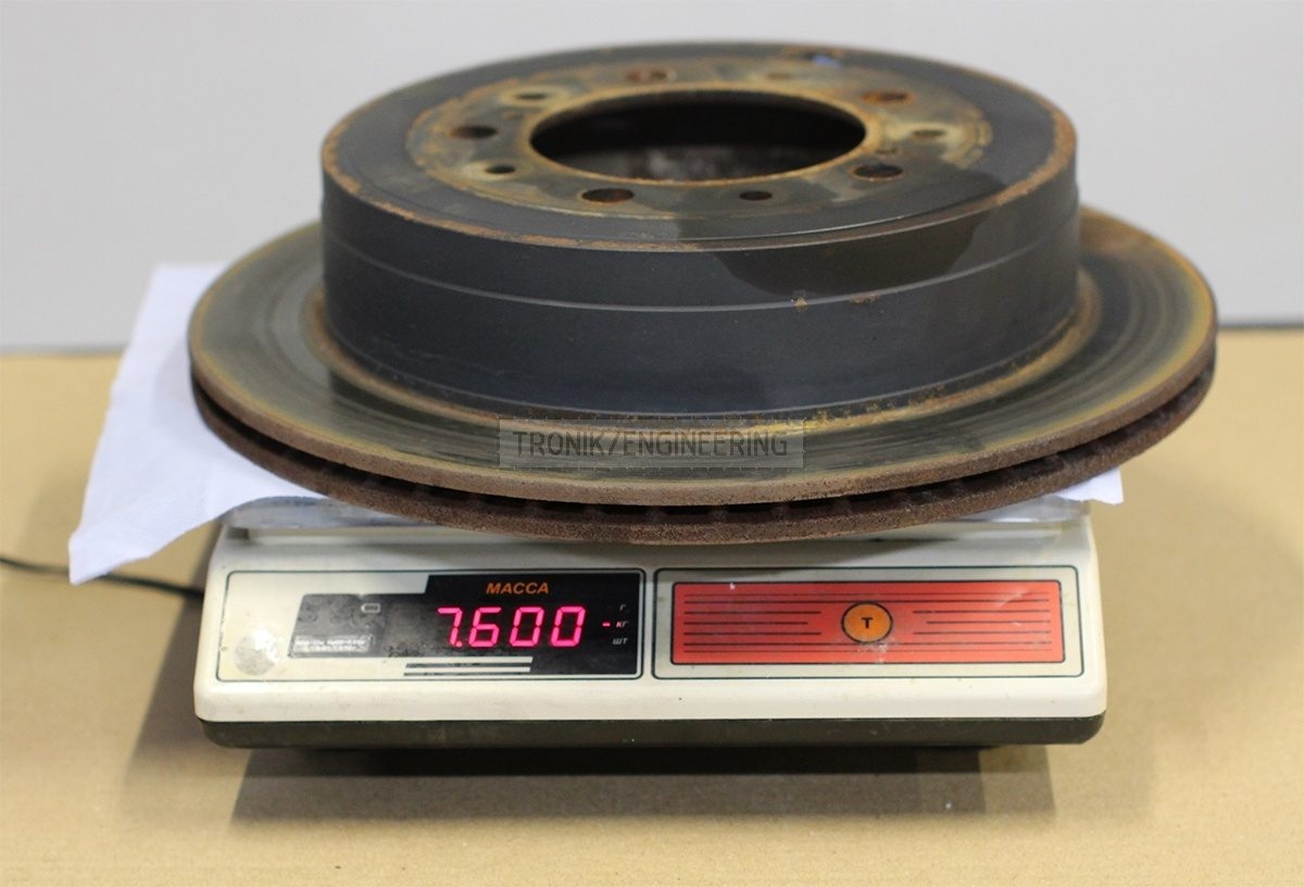 standard rear brake rotor