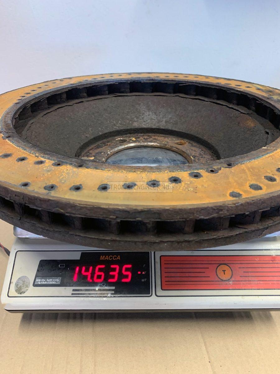 front TRD brake rotor
