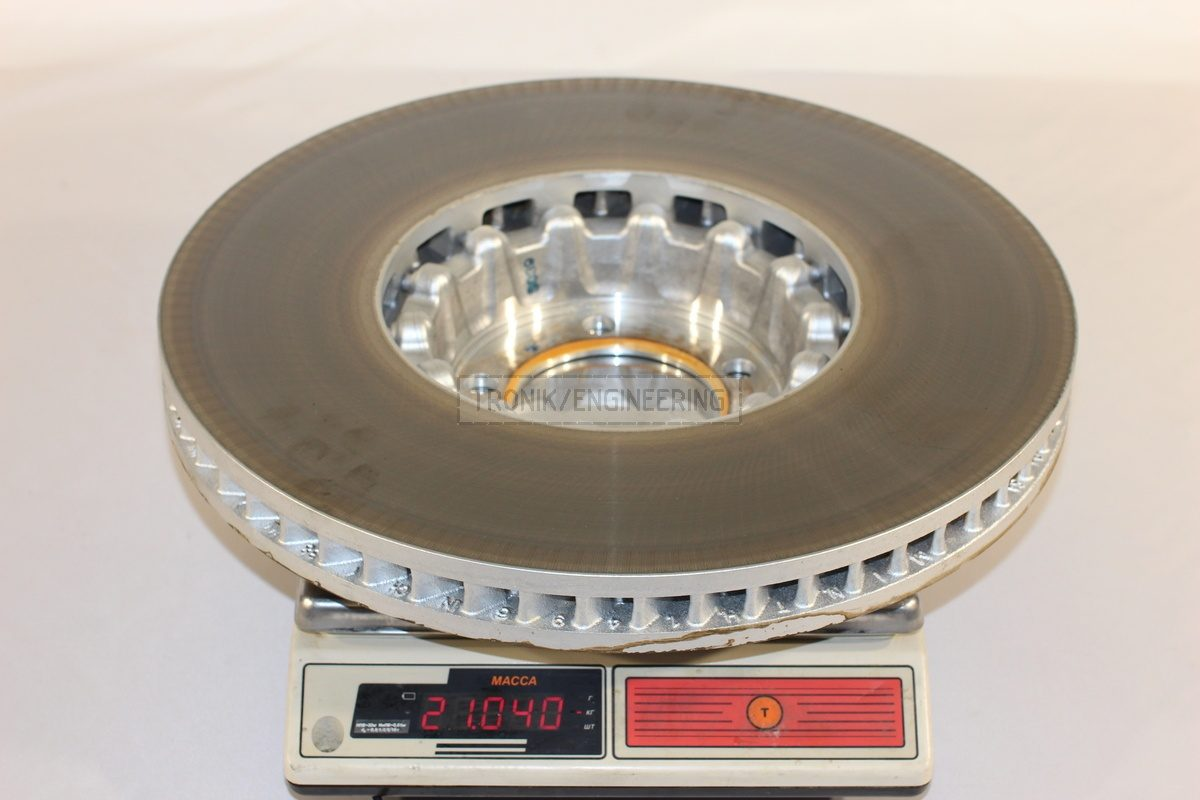 front axle standard brake rotor weight 21040 gr